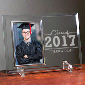 Engraved Graduation Beveled Glass Frame 8594448SL