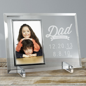Engraved Dad Established Glass Frame