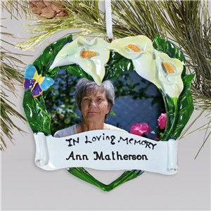 Personalized Memorial Frame Ornament | Memorial Christmas Ornaments