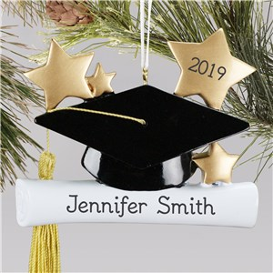 Personalized Graduation Ornament | Personalized Cap & Gown Graduation Ornament