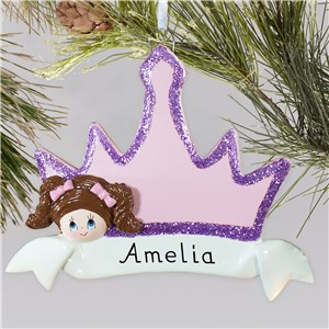 Personalized Princess Crown Ornament | Personalized Christmas Ornaments for Kids