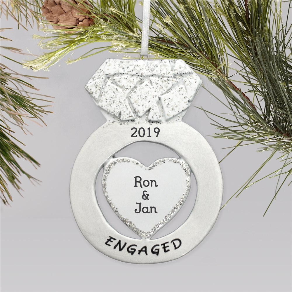 Personalized Engagement Ring Ornament | Engagement Ornaments
