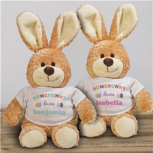 Personalized Somebunny Loves Me Easter Bunny | Stuffed Bunny