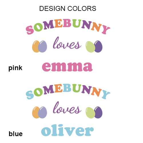 Personalized Somebunny Loves Me Easter Bunny | Personalized Bunny