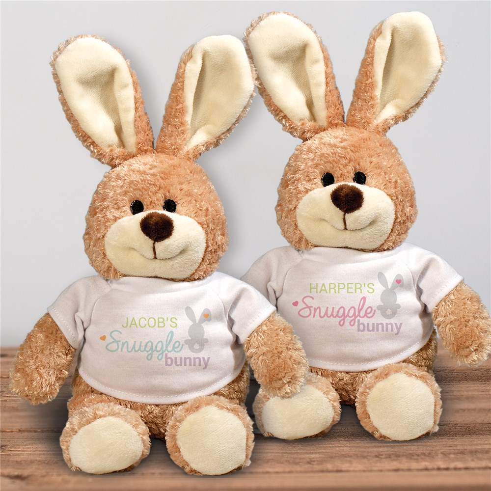 Personalized Snuggle Bunny Easter Bunny | Personalized Stuffed Bunny