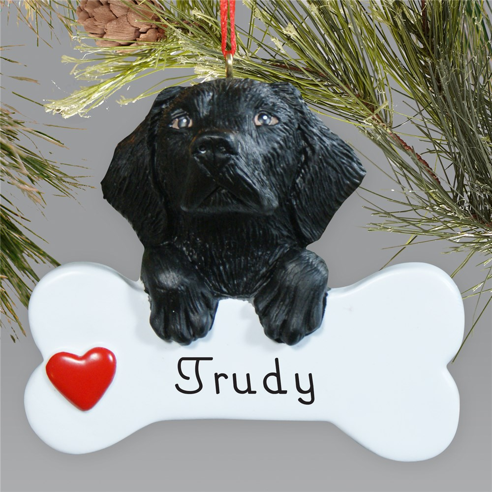 Personalized Black Lab Ornament | Personalized Pet Ornaments