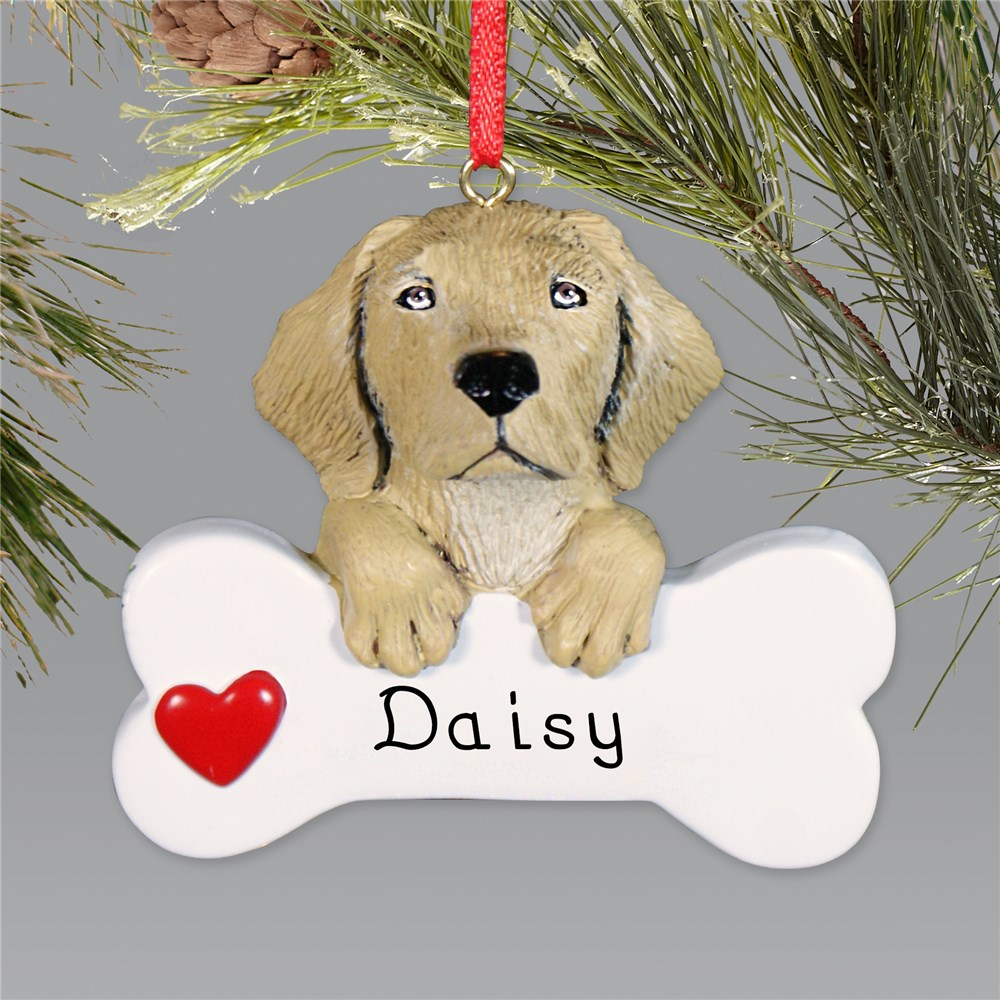 Yellow Lab Personalized Ornament | Personalized Pet Ornament
