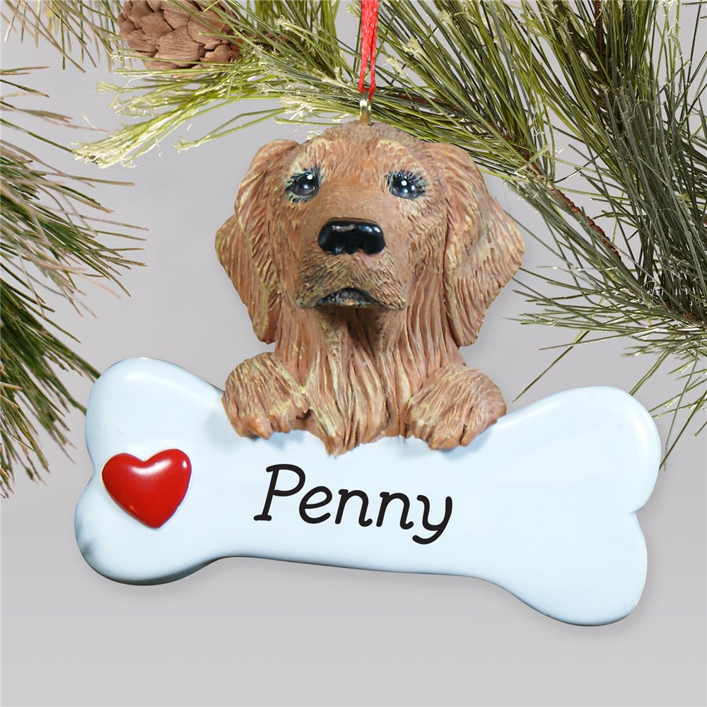 Personalized Golden Retriever Ornament | Personalized Pet Ornaments