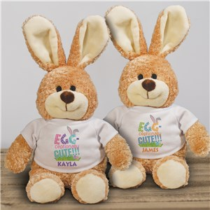 Personalized Egg-ceptionaly Cute Easter Bunny | Personalized Stuffed Bunny