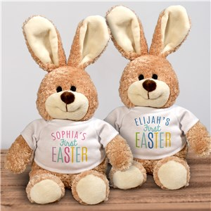 Personalized First Easter Brown Easter Bunny | Stuffed Easter Bunny