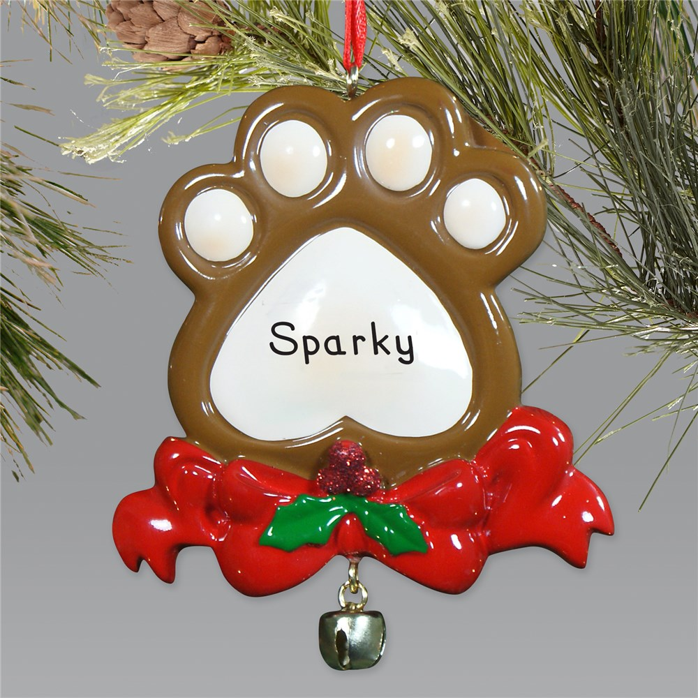 Personlized Paw Print Ornament | Personalized Pet Ornaments