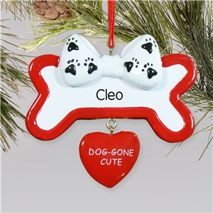 Personalized Dog Gone Cute Ornament | Personalized Pet Ornament