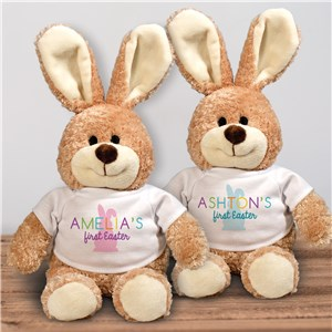 Personalized Colorful My First Easter Stuffed Bunny