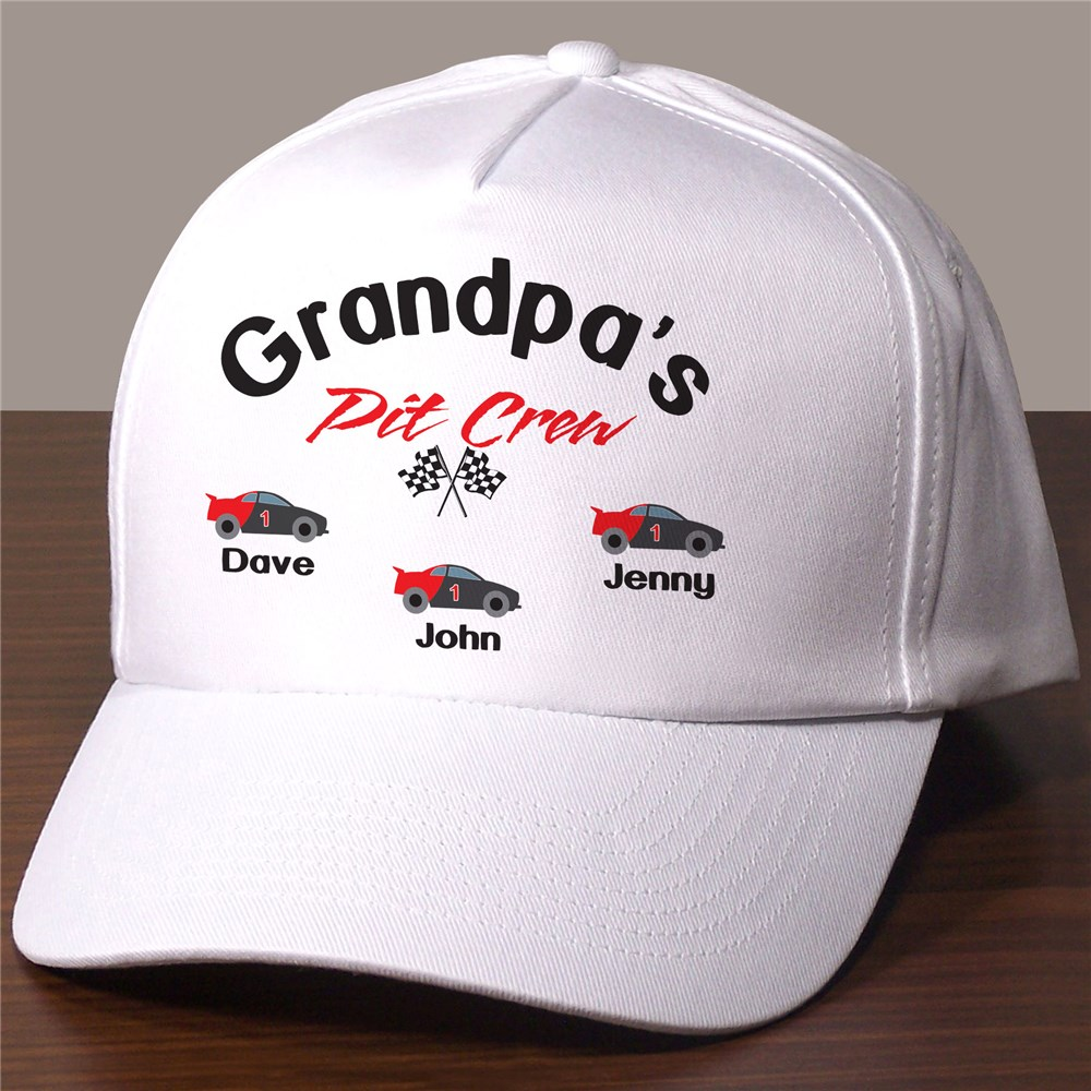 Personalized Pit Crew Hat | Personalized Grandpa Gifts