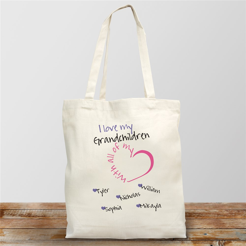 Personalized With All My Heart Tote Bag | Personalized Tote Bags