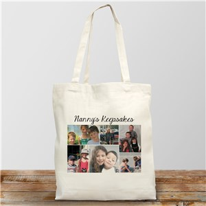 Collage Photo Canvas Tote Bag | Photo Gifts
