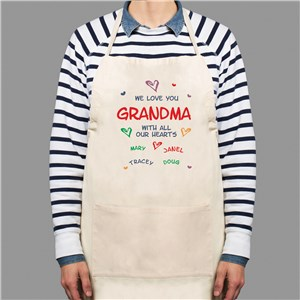 All Our Hearts Personalized Apron | Personalized Aprons