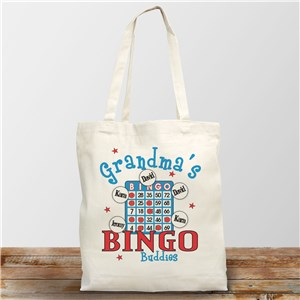Bingo Personalized Canvas Tote Bag | Grandma Gifts