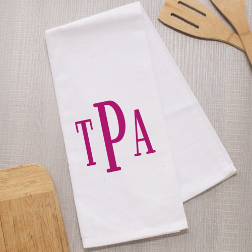 Monogrammed Dish Towel | House Warming Gift