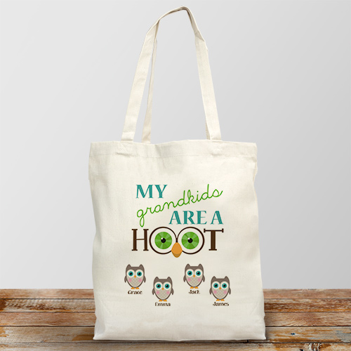 Personalized Are a Hoot Tote Bag | Personalized Grandma Gifts
