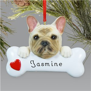 Engraved French Bulldog Ornament | Personalized Pet Ornaments