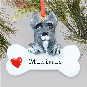 Engraved Schnauzer Ornament | Personalized Pet Ornaments