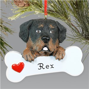 Engraved Rottweiler Ornament | Personalized Pet Ornaments