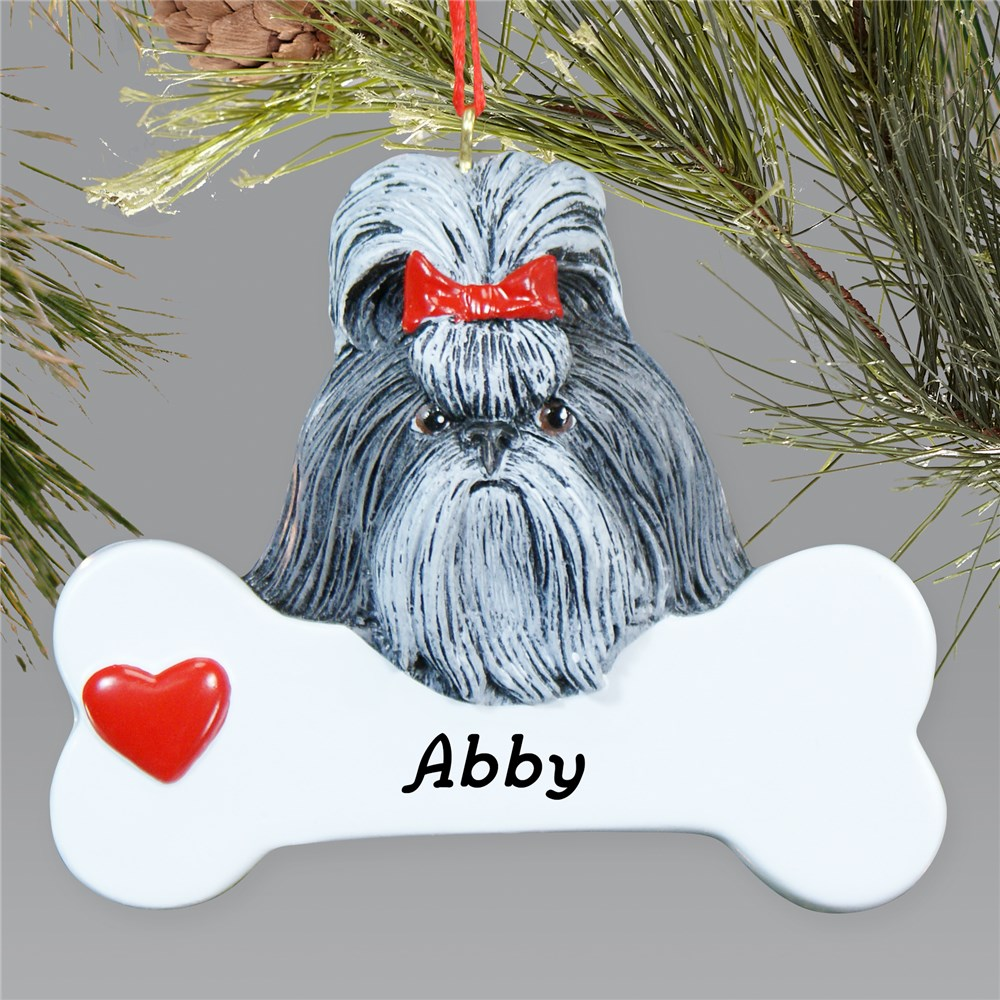 Engraved Shih Tzu Ornament | Personalized Pet Ornaments