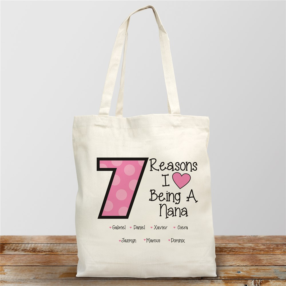 Personalized Reasons I Love Tote Bag | Personalizable Totes