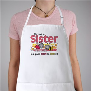 A Good Spot To Be In Sisters Personalized Apron | Personalized Aprons