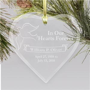 Engraved Sympathy Remembrance Heart Ornament | Memorial Ornaments