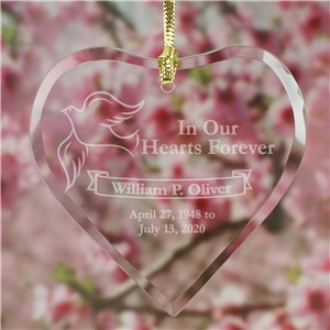 Engraved Memorial Heart Suncatcher | Memorial Gifts