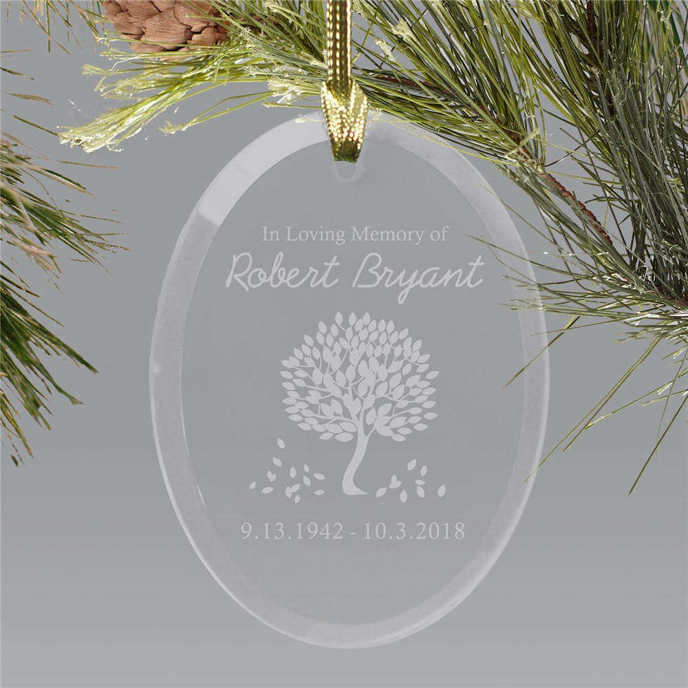 In Loving Memory Glass Personalized Ornament | Memorial Christmas Ornaments