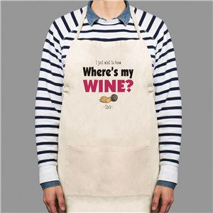 Where's My Wine Apron | Personalized Aprons