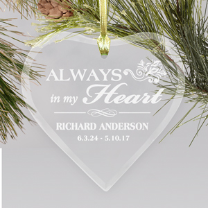 Personalized Memorial Heart Ornament | Personalized Memorial Ornaments