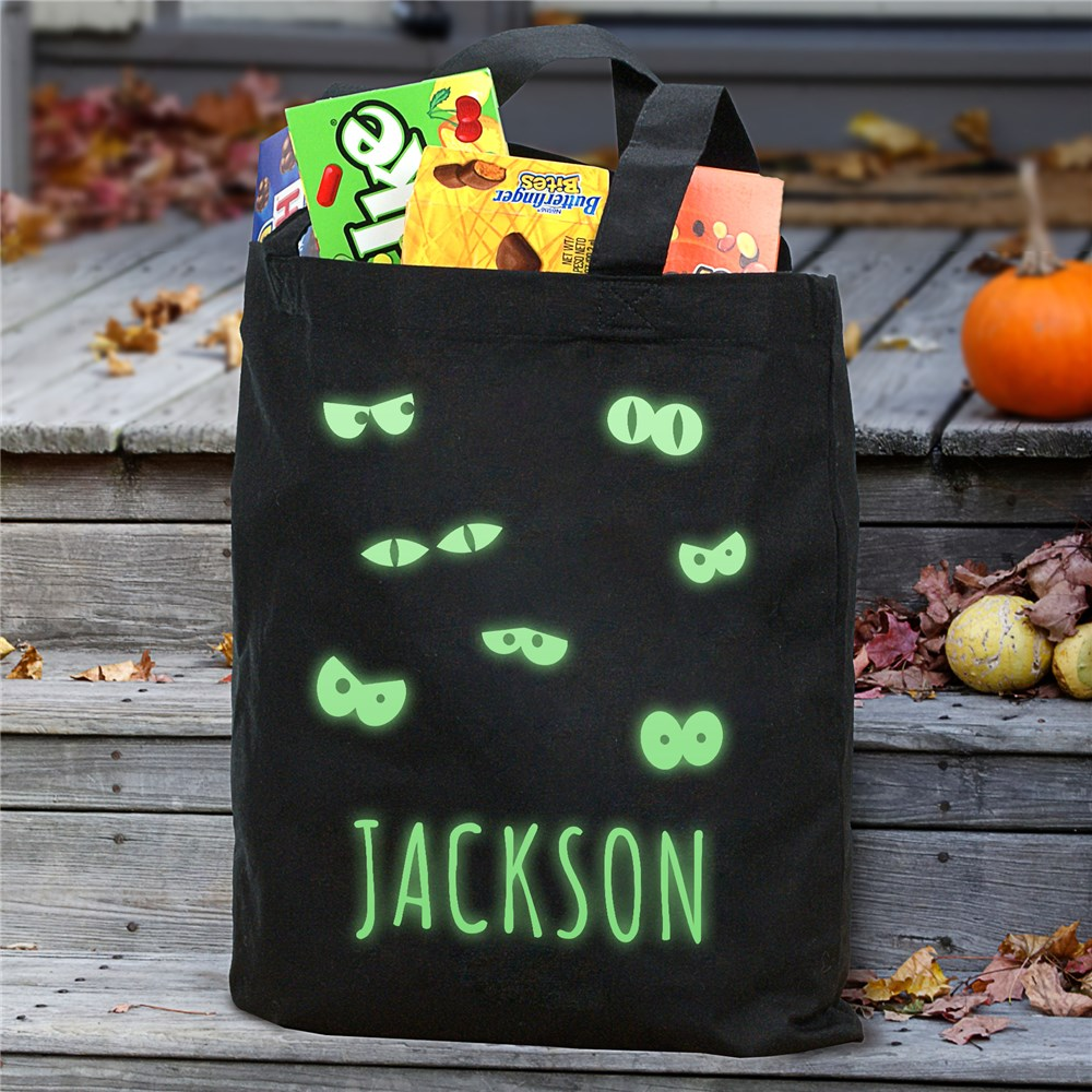 Personalized Glow In The Dark Halloween Bag | Personalized Halloween Bags