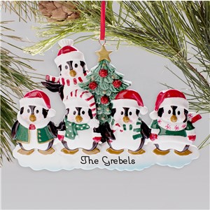 Personalized Penguin Family Ornament | Personalized Family Christmas Ornaments