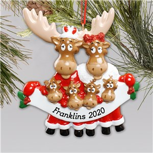 Personalized Moose Family Ornament | Personalized Family Christmas Ornaments