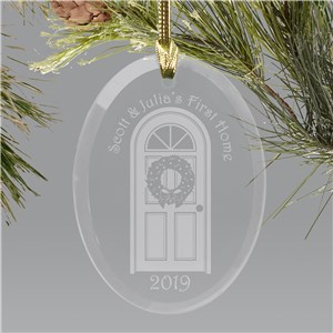 Our First Home Glass Ornament | Personalized Wedding Ornaments