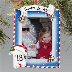 Santa and Me Ornament-Photo Christmas Ornament | Picture Ornaments