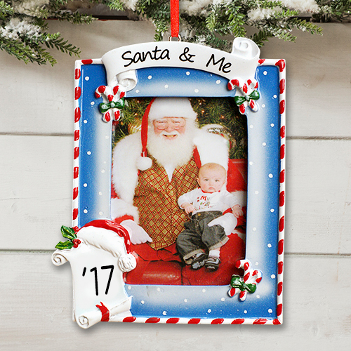 Personalized Santa and Me Photo Ornament 880953