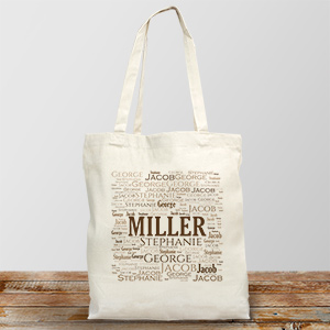 Family Word-Art Tote Bag