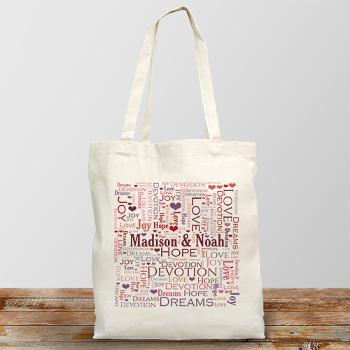 Together Word-Art Tote Bag | Personalized Word Art