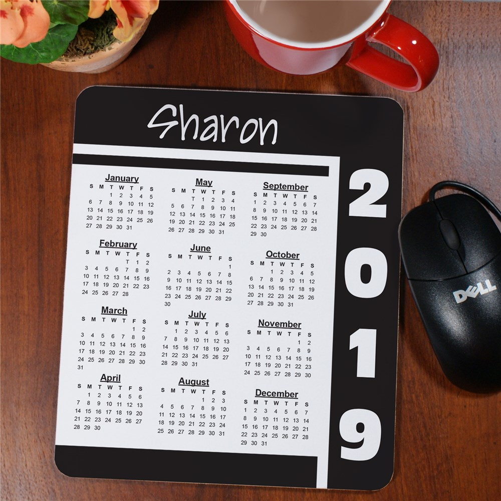Calendar Personalized Mouse Pad
