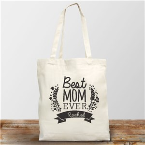 Personalized Best Mom Ever Tote | Personalized Gifts For Mother's Day