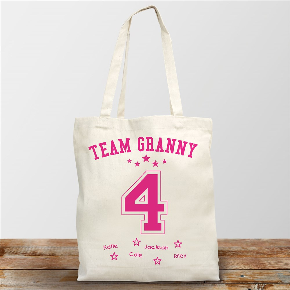 Personalized Team Mom Tote | Personalized Canvas Totes
