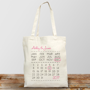 Personalized Wedding Date Tote Bag 894672