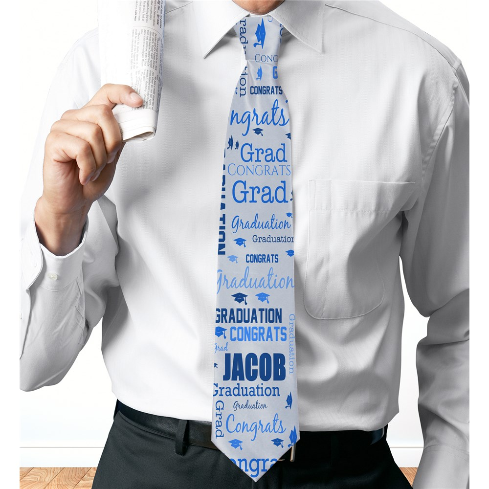 Personalized Word-Art Tie for Him | Fathers Day Presents