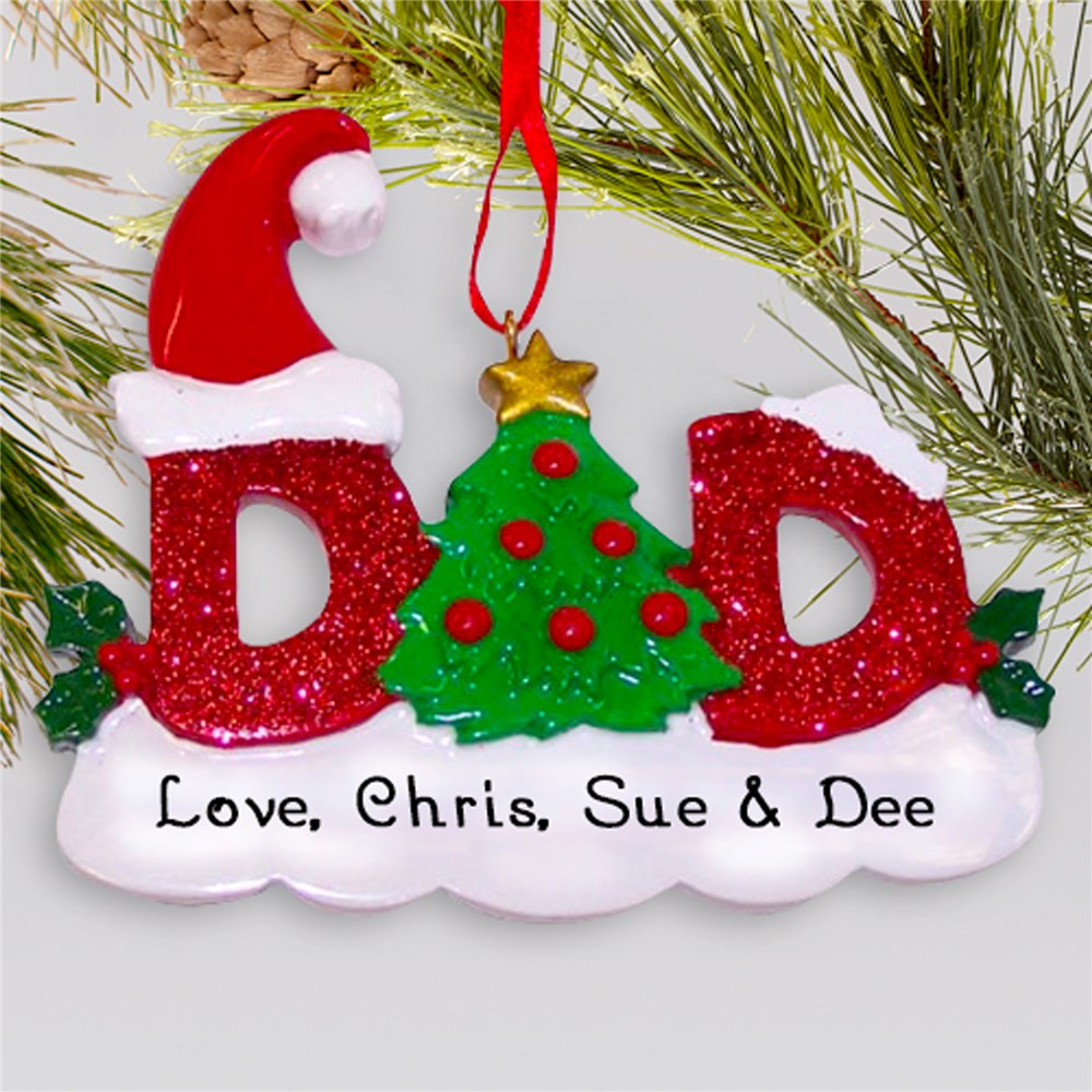 Dad Personalized Christmas Ornament | Personalized Family Ornaments