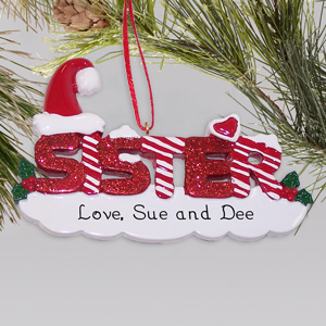 Sister Personalized Christmas Ornament | Personalized Christmas Ornaments